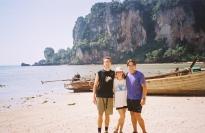 Matt, Jess, and Jason days before food poisoning and tsunami