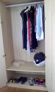 Oh the irony. It's the largest closet I've ever had in my life and I only have a backpack full of clothes to put in it.