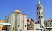 Zadar's old town center and living room.