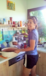 Learning the ropes in a Croatian kitchen.